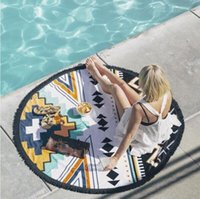 Wholesale 150cm cm Boho Printed Round Beach Pool Home Shower Bath Towel Blanket Summer
