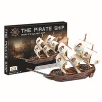 Wholesale DIY D Paper Model Puzzle Pirates of the Caribbean Ship The Queen Annie s Revenge Ship Model Kits Educational Toys for Children
