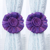 Wholesale Cute pair of home decoration curtain curtain buckle straps tying fabric roses sunflowers upscale