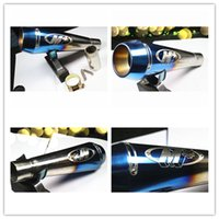 Wholesale Universal ID mm motorbike exhaust pipe muffler scooter escapes moto modified refit accessories silencer removeable