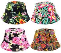 Wholesale 27Designs Women Bohemian Hats Summer Beach Sun Hats Travelling Bucket Caps Canvas Fisherman Hats Women Fashion Accessories