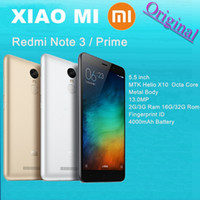 note 3 - Original Xiaomi quot Redmi Note Metal Body Fingerprint ID Mobile Phone MTK Helio X10 Octa Core GB GB RAM GB GB ROM MP G FDD