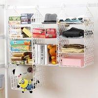 bathroom with wardrobe - Plastic Foldable Storage Rack Wardrobe clothes rack with hooks Closet Storage Organizer plastic bathroom shelf