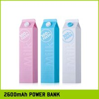 battery milk - 100 Fresh Milk Bottle mAh Cylinder PowerBank External Backup Battery Charger Emergency portable Power Bank Chargers For Iphone