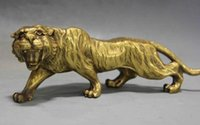 brass statue - Details about Chinese Fengshui Copper brass Animal Zodiac Year Lucky Tiger Statue