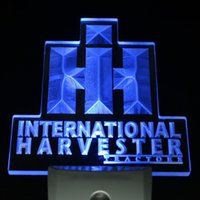ac tractor - ws0074 International Harvester Tractor Day Night Sensor Led Night Light Sign