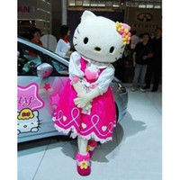 adult costumes cartoon characters - Hot Selling hello kitty Mascot Costume Adult Size High Quality Hello Kitty Cartoon Character Costumes Fancy Dress Suit In stock