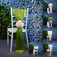 Wholesale Hot Sale Jacquard Chair Covers For Wedding Ceremony Ribbon Chair Sashes Party Banquet Decoration Satin Sash Wedding Supplies Per
