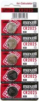 Wholesale Fast and Tracking for Maxell Wholesales set New and Genuine Lithium CR2025 Calculator V battery card pack