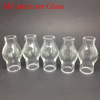 Wholesale Glass globe for M6 atomizer vaporizer Pyrex Glass tank Wax vaporizer electronic cigarette M6 clearomizer glassomizers Glass in stock