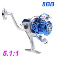 Wholesale 2016 BB Ball Bearings ST4000 Fishing Reel Left Right Interchangeable Collapsible Handlle Fishing Spinning Reel H10520