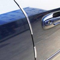 bar edge molding - 8pcs set Universal Car Door Guard Edge Corner Bumper Buffer Trim Molding Protection Strip Scratch Protector Car Door Crash Bar