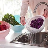 Wholesale The new kitchen vegetables thickened rotating plastic wash rice vegetables basin drain basket vegetable basket