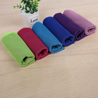 Wholesale Bamboo Fiber Ice Towel Colors Magic Double Cold towel Towels Summer Cooling Purposes Outdoor Sport Towel Fast Delivery