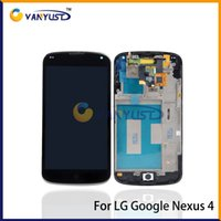 nexus 4 - Grade A LCD Display Touch Digitizer Complete Screen Panels Full Assembly With Frame For LG Google Nexus E960 VA233 T18