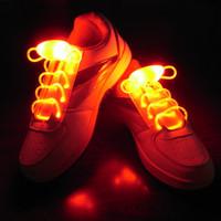 Wholesale 100pcs pairs Cool Fashion Light up LED Shoelaces Flash Party Skating Glowing Shoe Laces for Boys Girls Fashion Luminous Shoe Strings