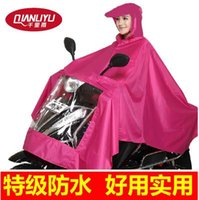 Wholesale Increase the riding car battery single thick raincoat adult men and women fashion electric motorcycle raincoat poncho