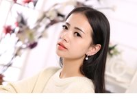 screw back earrings - fashion S925 silver needle earrings clip on screw back shell pearl earrings gold and silver color