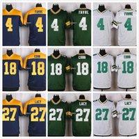 Wholesale 2016 NEW Brett Favre Randall Cobb Eddie Lacy Stitched Jerseys Cheap Size M XXXL discount football jerseys