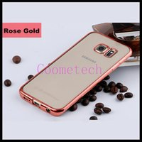 Wholesale TPU ultra thin samsung case for samsung note4 note5 s6 s7 s6plus s7 edge electroplate technology soft case opp package