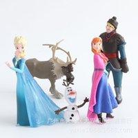 animated baby dolls - 2016 hot new set Frozen classic animated snow romance Anna reindeer cake decoration doll Elsa Xuebao