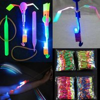 Wholesale 2016 Novelty Children Toys Amazing LED Flying Arrow Helicopter for Sports Funny Slingshot birthday party supplies Kids Gift
