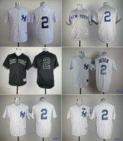 Wholesale Cheap MLB baseball Jerseys New York Yankees jerseys JETER high quality white stripe grey black drop freeshipping
