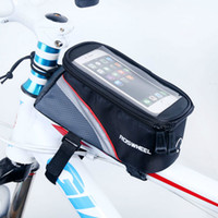 Wholesale Outdoor sport Waterproof Cycling Bicycle Bag Case Panniers Cycling Pouch Mountain Bike Frame Top Tube Bag Basket