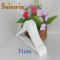baby rack - Sainwin cm Baby Wood Hangers for Clothes Children Wooden White Hanger Kids Clothing Rack