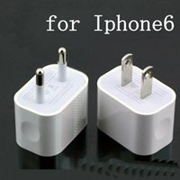 Wholesale High quality Wall charger V A A EU US AU plug travel USB adapter for iphone samrt phone DHL free