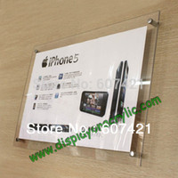 acrylic wall display frame - Pack units A4 Wall Mounted Acrylic Poster Frames Advertising Boards For Displaying A4 Posters graphics