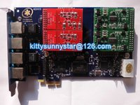 Wholesale AEX410 Asterisk card TRIXBOX IP PBX ZAPTEL FXO FXS PCI Express analog card