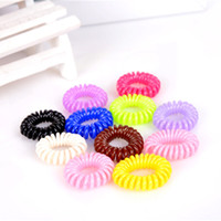 Wholesale New Fashion Women Hair Ring Telephone Cord Elastic Ponytail Holders Hair Rings Scrunchies For Girl Rubber Band TS