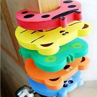 Wholesale Child Kids Baby Cartoon Exit Card Door Stoper Holder Lock Safety Guard Finger Protect Animal Jammers Infant Safety Protector