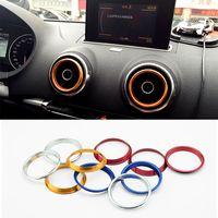 audi air conditioning - 2016 New Car Styling SET Air Conditioning Heat Control Switch knob AC Knob Case For Audi A3 Sedan High Quality Car Decoration