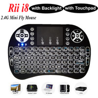 android media tablet - Wireless Backlight Keyboard Rii Mini i8 G Air Mouse Media Player Remote Control with Touchpad for Android TV Box MXIII MXQ Plus Mini PC