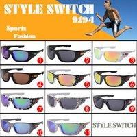 Cheap summer newest style sunglasses men Glasses sports sunglasses Dazzle colour glasses Famous Design sports glasses A+++++ STYLE SWITCH 9194