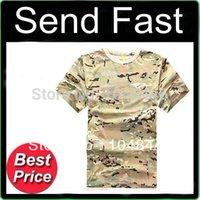 Wholesale Military Combat Camouflage T shirt men short sleeve cotton t shirt special forces tactical military fans eight color T shirt