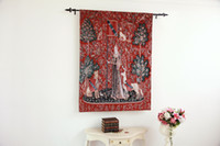 Wholesale The Lady and the Unicorn Touch Fine Art Tapestry Wall Hanging Home Decor Gift Cotton Jacquard Woven x cm
