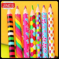 Wholesale 20pcs Rainbow color pencil in colored pencils for drawing Stationery drawing Office material school supplies