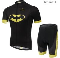 Wholesale batman cycling jerseys suit with short sleeves Spiderman bike suit Breathable moisture absorption perspiration sweater in summer