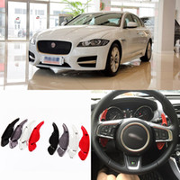 Wholesale 2pcs Alloy Add On Steering Wheel Aluminum Shift Paddle Shifter Extension For Jaguar XF