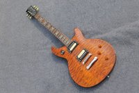 Wholesale Custom shop Solid body LP Standard electric guitar Brown Burst Mahogany body guitar Chinese handmade guitar in stock guitars