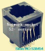Wholesale RJ45 network jack female P8C band edge line vertical