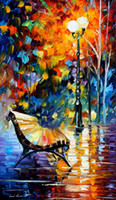 bench buy - Buy Christmas gift lonely bench Leonid Afremov s oil painting reproduction hand painted