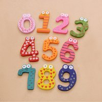 Wholesale 1 Set Gift Set Number Wooden Fridge Magnet Education Learn Cute Kid Baby Toy WA0304