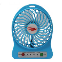 Wholesale DHL Freeshipping F95B Portable Mini USB Fan Rechargeable Battery Operated LED Lamp for Indoor Outdoor Kids Table Mini Fan Cheap