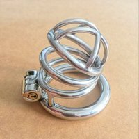 male bondage toys - latest patent Stainless Steel Locking Male Chastity Cage Penis Cock Cages Device for bdsm bondage Adult Sex Toys for Men SMGC S021