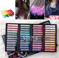 Wholesale 48 colors box Gallery Hair Color Temporary Hair Chalk Fun Fast Easy Soft Fencai Bar DHL Free JJD1758