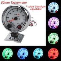 Wholesale Tachometer quot Type R tachometer with colors led RPM car gauge auto gauge Tachometer Car meter